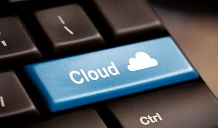 Cloud Button on Computer