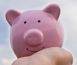 cloud cost management piggy bank
