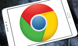 chrome logo on tablet-1
