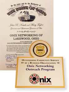 Recognitions for Onix Outreach