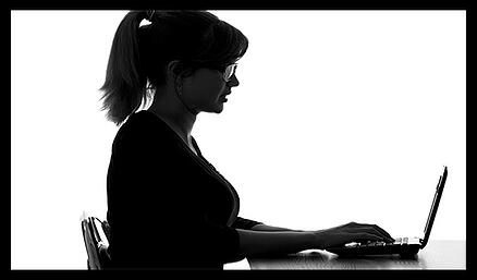 woman accessing a computer