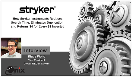 Interview with Klaus Welte VP of R&D for Stryker Instruments