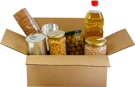 Box of Canned Goods