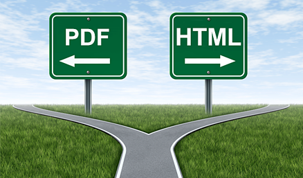PDF vs HTML: A fork in the road