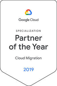 2019 Google Cloud Global Specialization Partner of the Year for Cloud Migration