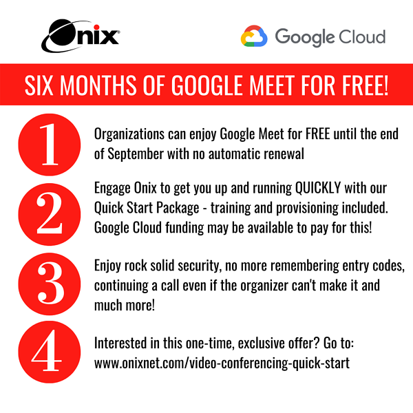 SIX MONTHS OF GOOGLE MEET FOR FREE!