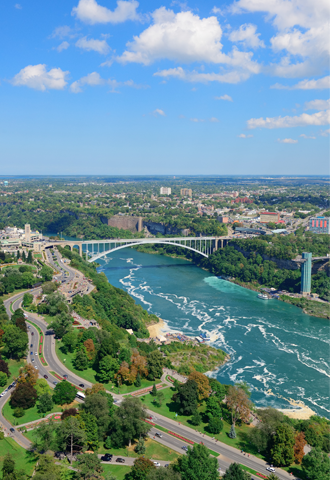 US Canada Rainbow Bridge